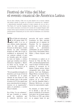 Festival de Viña del Mar: el evento musical de América Latina