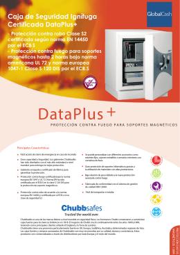 Caja de Seguridad Ignífuga Certificada DataPlus+