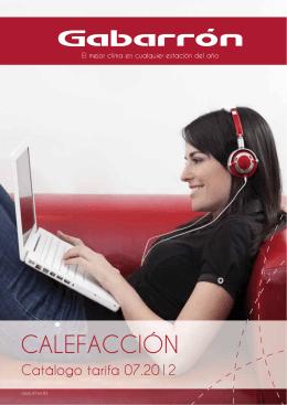 Catálogo calefacción tarifa 2012-2013