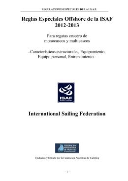 Reglas Especiales de la ISAF 2012