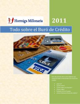 Todo sobre el Buró de Crédito