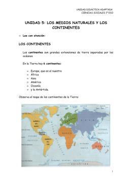 Tema 5. Los continentes