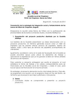 IV Acta Barras de Fútbol