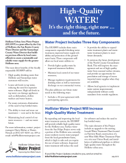 WATER! - Sunnyslope County Water District