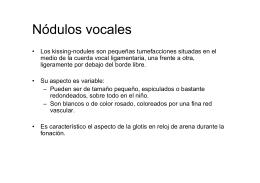 Nódulos vocales