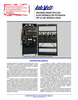 SISTEMA DIDÁCTICO EN ELECTRÓNICA DE POTENCIA - Lab-Volt