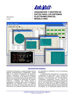 adquisición y gestión de datos para los sistemas - Lab-Volt