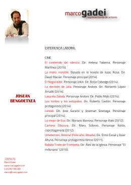 Descargar Currículum - Marco Gadei I Representante de actores