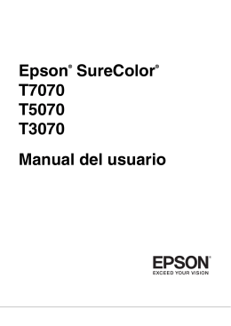Manual del usuario - Epson America, Inc.