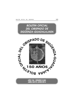 boletin oficial del obispado de sigüenza-guadalajara