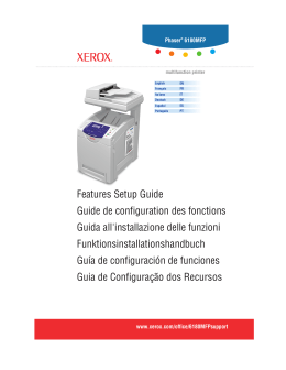 Phaser® 6180MFP Features Setup Guide