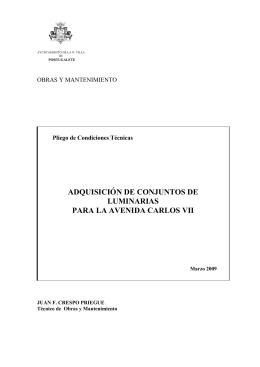 Pliegos Técnicos - Ayuntamiento de Portugalete