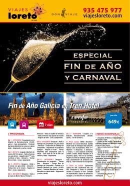 Fin de Año Galicia en Tren Hotel