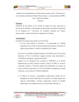 Propuesta para Resolución Ministerial