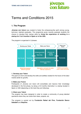 Terms and Conditions 2015