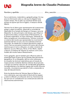 Biografía breve de Claudio Ptolomeo