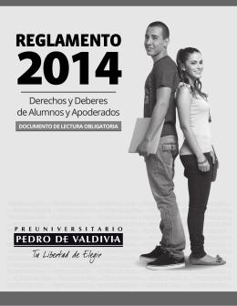Reglamento PDV - Preuniversitario Pedro de Valdivia