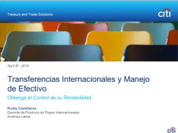 Transferencias Internacionales y Manejo de Efectivo