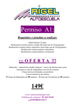 Permiso A1: - Autoescuela Rigel