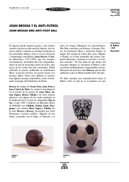 Joan Brossa y el anti-fútbol