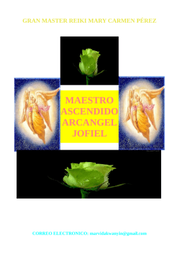 MAESTRO ASCENDIDO ARCANGEL JOFIEL