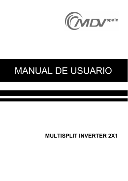 Manual usuario MultiSplit inverter 2x1