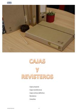 - Cajas proyecto - Cajas transferencia - Cajas archivo