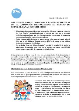 LOS PITUFOS, BARBIE, DORAEMON Y FAMOSAS ESTRELLAS DE