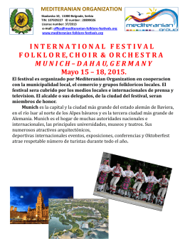internationalfestival folklore, choir & orchestramunich – dahau, ge