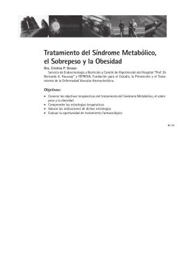 Tratamiento del Síndrome Metabólico, el Sobrepeso y la