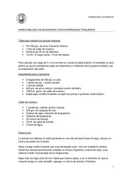 FORMACIÓN LOS PERALES 1 ARROZ MELOSO DE BOGAVANTE