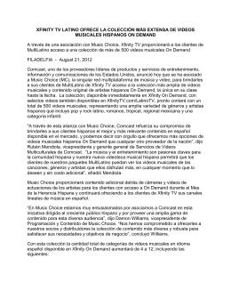 XFINITY TV LATINO OFRECE LA COLECCIÓN MÁS