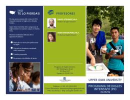 PROGRAMA DE INGLES INTENSIVO (PII)