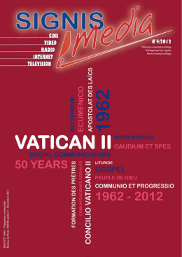 SIGNIS Media 4/2012: 50 años después del Vaticano II