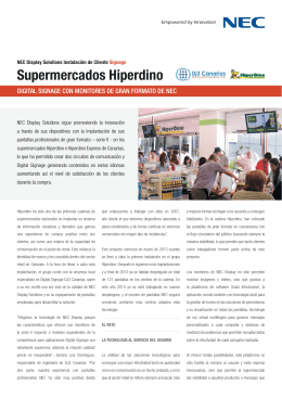 Supermercados Hiperdino - NEC Display Solutions Europe
