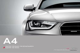 Audi A4 | A4 Avant | A4 allroad quattro Audi S4 | S4 Avant