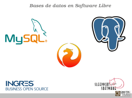 Bases de datos en Software Libre