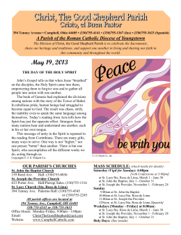 May 19, 2013 - Christ, the Good Shepherd Parish of Campbell, Ohio