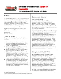 Resumen de información: Equipo de Evacuación - e