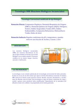 Tecnología SBR (Reactores Biológicos Secuenciales)
