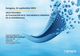 Zaragoza, 21 septiembre 2015 MESA REDONDA