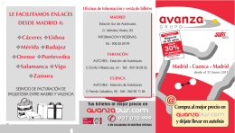 Madrid-Cuenca INV TRIP