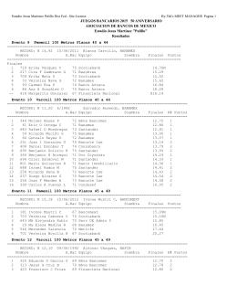 Resultados Completos Atletismo Bancarios 23