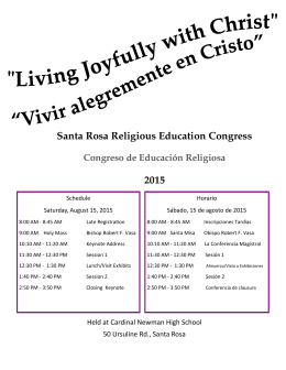 Santa Rosa Religious Education Congress 2015