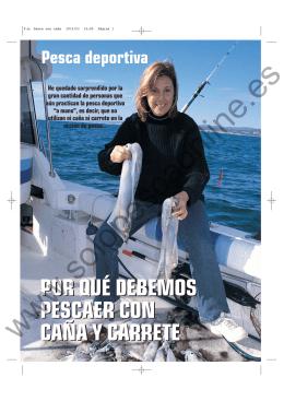 Pesca con caña y carrete