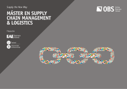 MÁSTER EN SUPPLY CHAIN MANAGEMENT & LOGISTICS