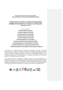 consenso nacional inter-sociedades sobre manejo de las masas