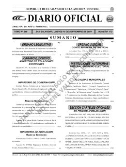 Diario 18 de Septiembre.indd - Diario Oficial de la República de El