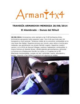 TRAVESÍA ARMANI4X4 MENDOZA II 1ra Parte
