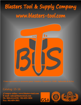 Seguridad - Blasters Tool & Supply